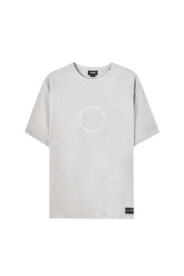 T-shirt with circle on chest