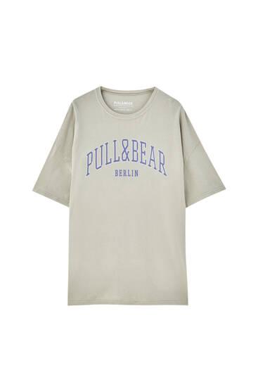 Pull&Bear Berlin logo T-shirt