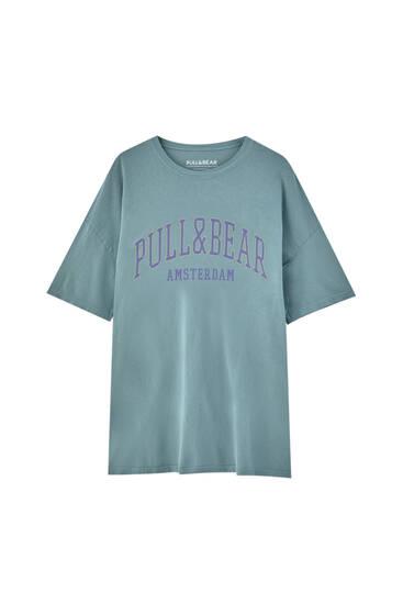 Pull&Bear Amsterdam logo T-shirt