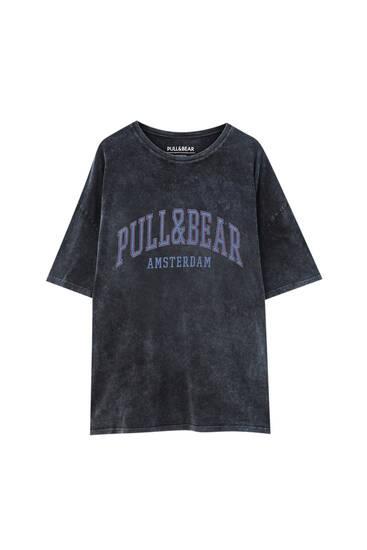 """Marškinėliai """"Amsterdam"""" su logotipu"""