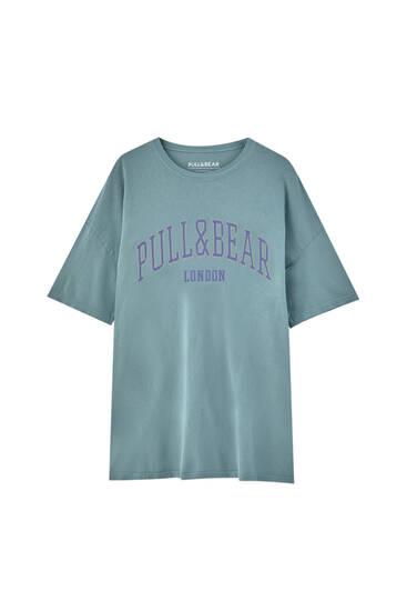 Pull&Bear London logo T-shirt