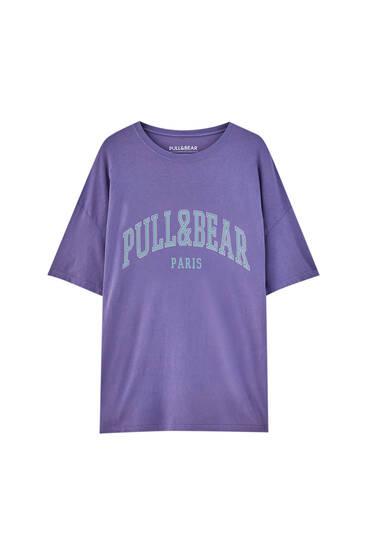 تيشرت بشعار Pull&Bear Paris