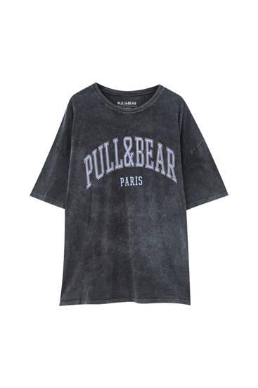 Pull&Bear Paris logo T-shirt