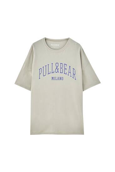 Pull&Bear Milan logo T-shirt