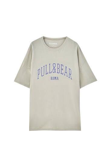Pull&Bear Rome logo T-shirt