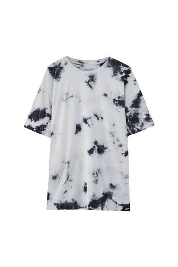 Black and white tie-dye T-shirt
