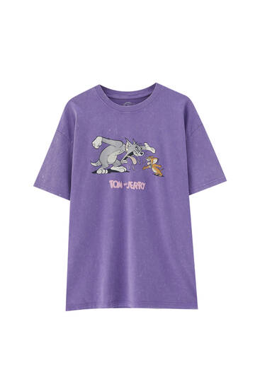 Mauve Tom & Jerry T-shirt