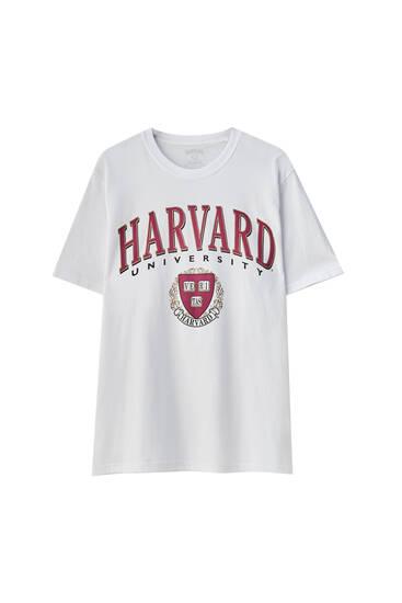 Camiseta blanca Harvard University