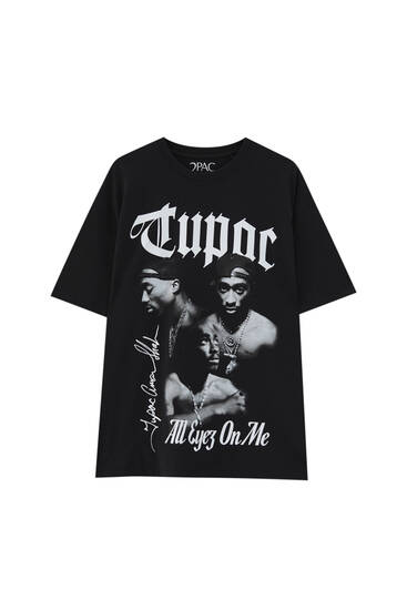 Tupac T-shirt in black