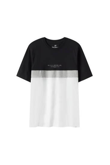 Basic colour block T-shirt with logo