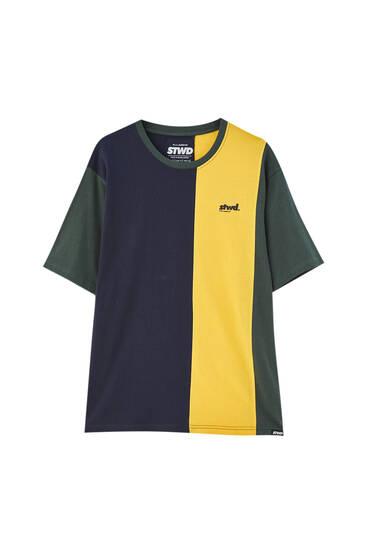STWD vertical colour block T-shirt