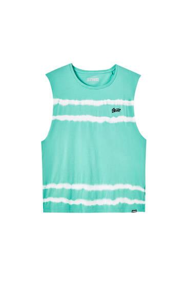 Sleeveless tie-dye T-shirt