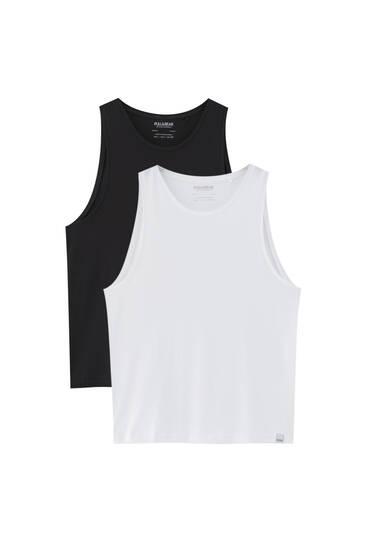 Pack 2 camisetas básicas tirantes
