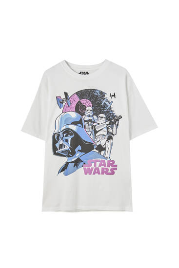 Playera blanca Star Wars
