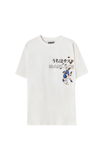 White Naruto short sleeve T-shirt