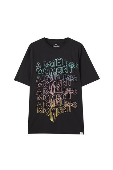 "Sort ""A dateless moment""-T-shirt"