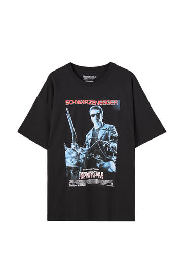 Sort T-shirt med Terminator