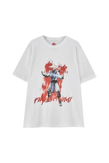 Vit t-shirt Mortal Kombat