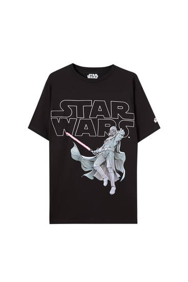 Sort T-shirt med Star Wars-logo