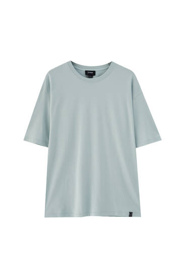 Basic label detail T-shirt - 100% ecologically grown cotton
