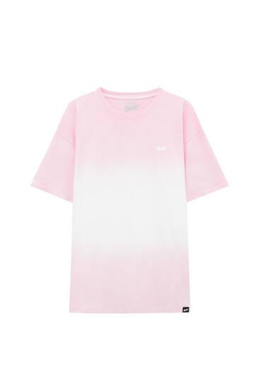 STWD tie-dye colour block T-shirt