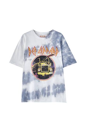 Def Leppard tie-dye T-shirt
