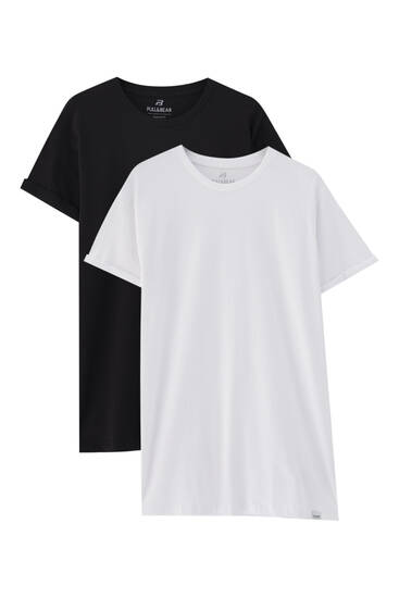 Pack of 2 short sleeve T-shirts.