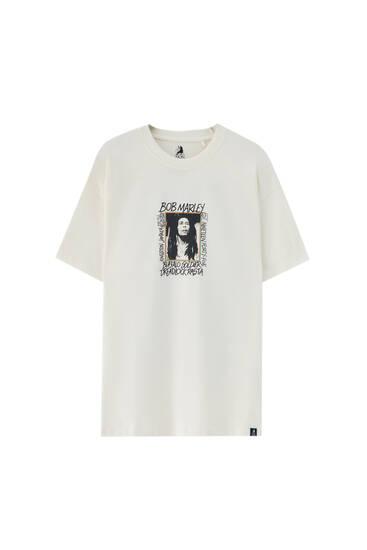 טי שירט Bob Marley בצבע לבן