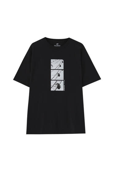 Black T-shirt with Ferris wheel illustration