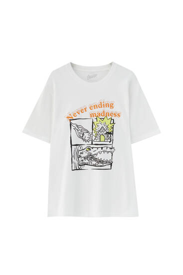 T-shirt with crocodile illustration