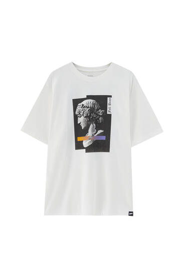 T-shirt blanc STWD avec photo