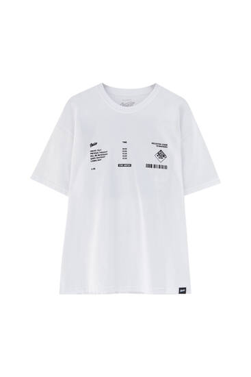 White plane T-shirt