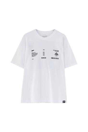 Vit t-shirt flygplan