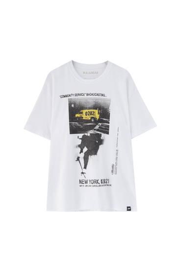 Vit t-shirt skåpbil