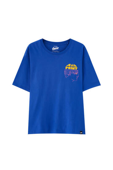 Blue T-shirt with front print