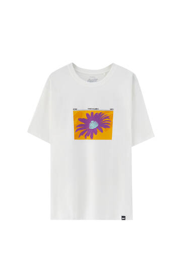 White T-shirt with contrast front print