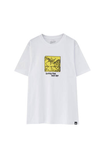 White graphic STWD T-shirt