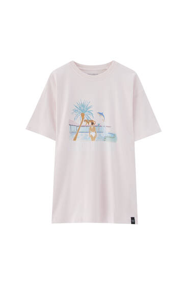 Swimming pool print T-shirt