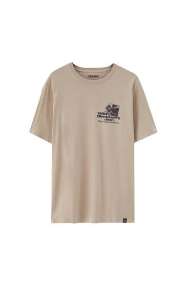 Camiseta ilustración contraste - Algodón orgánico (al menos 50%)