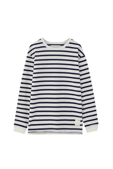 Striped T-shirt in heavy fabric