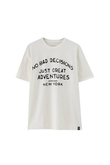 """White """"No bad decisions"""" T-shirt"""