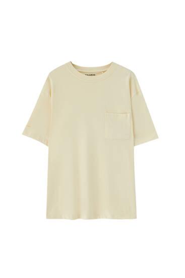 Predimenzionirana premium majica sa džepom
