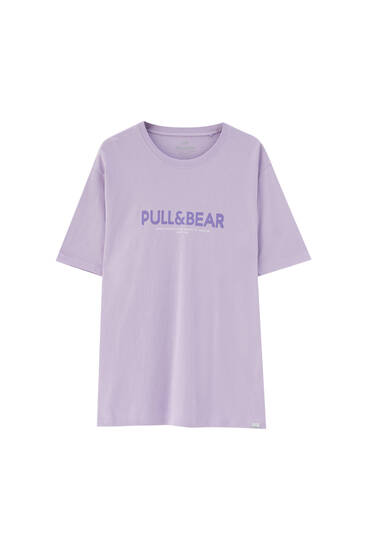 Basic slogan T-shirt with logo