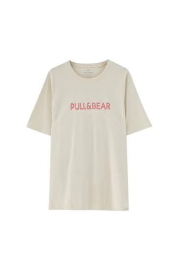 Paprasti marškinėliai su logotipu – ekologiška medvilnė (mažiausiai 50%)