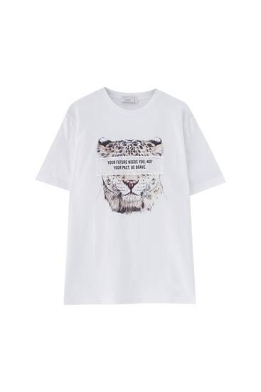 White leopard T-shirt