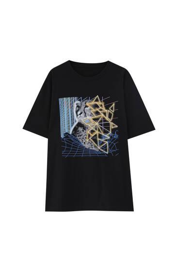 Black leopard T-shirt