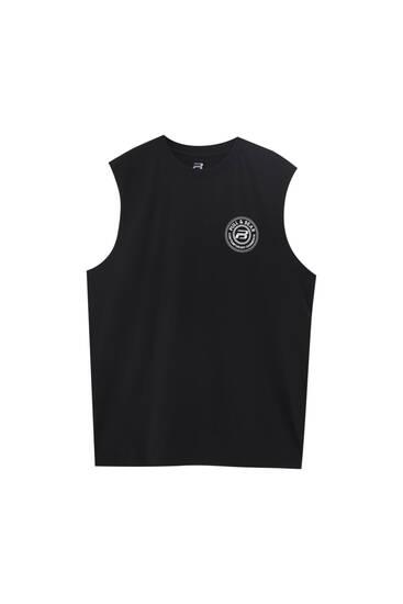 T-shirt sans manches avec logo