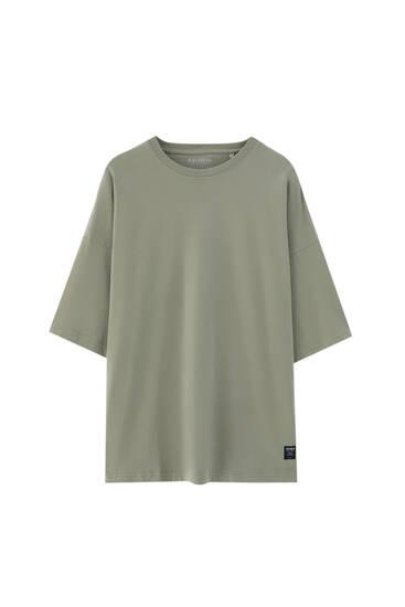 Camiseta loose básica manga corta