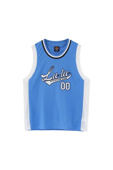 Blue Lunay basketball T-shirt
