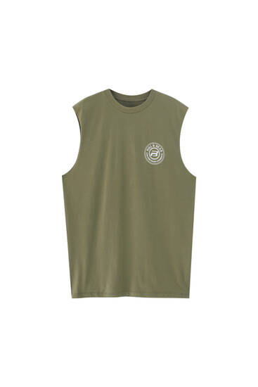 Sleeveless logo T-shirt